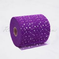 Purple Sequin Tulle Roll